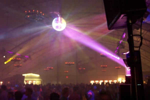 Calgary DJ Service - Intellabeam on ball